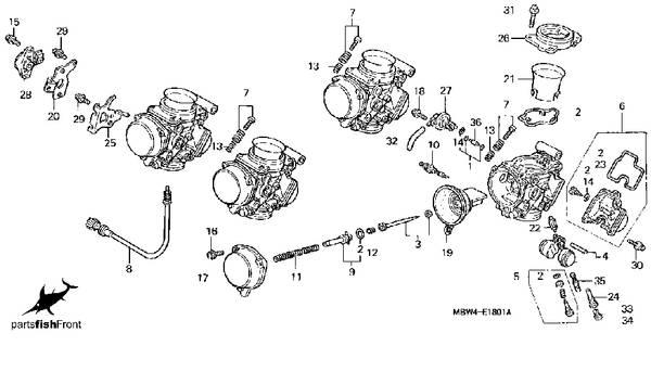 2000 cbr 600 f4 parts