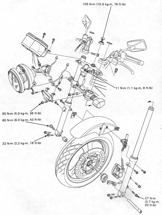 Honda Nt650 Service Manual Section 12 Front Wheelsuspensionsteering