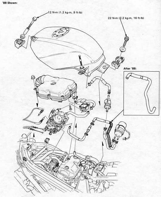 4 0 img01 med honda nt650 service manual, section 4, fuel system Trigonometry Unit Circle Diagram Radians at reclaimingppi.co